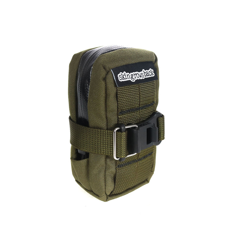 skingrowsback lunch box handlebar bag plan b saddle bag combo cycling olive