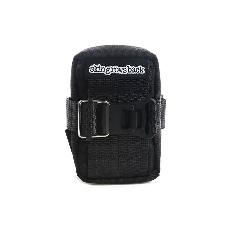 skingrowsback Plan B Micron cycling saddle bag black front