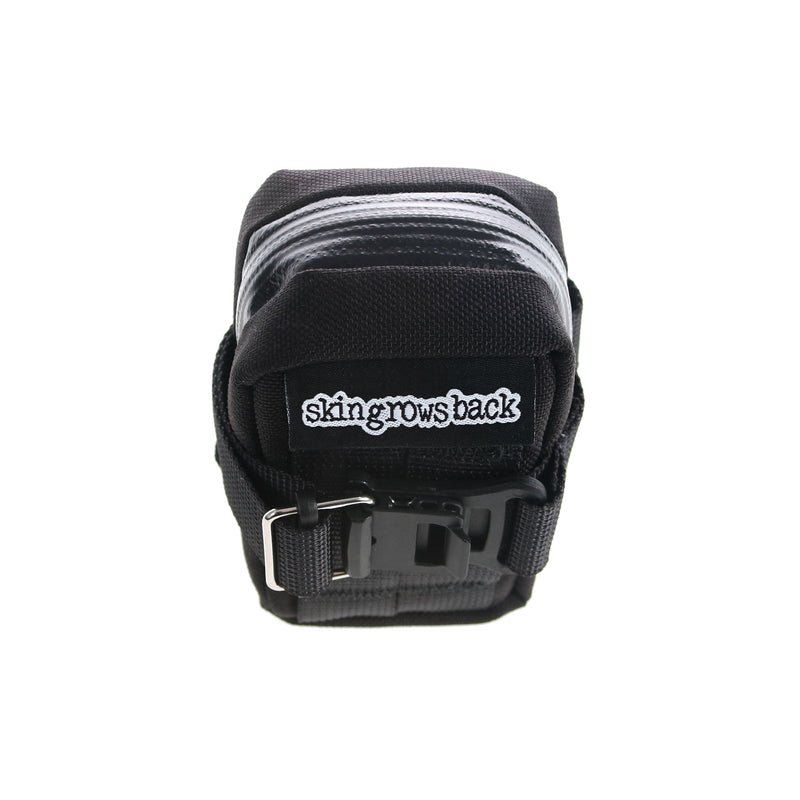 skingrowsback Plan B Micron cycling saddle bag black back view