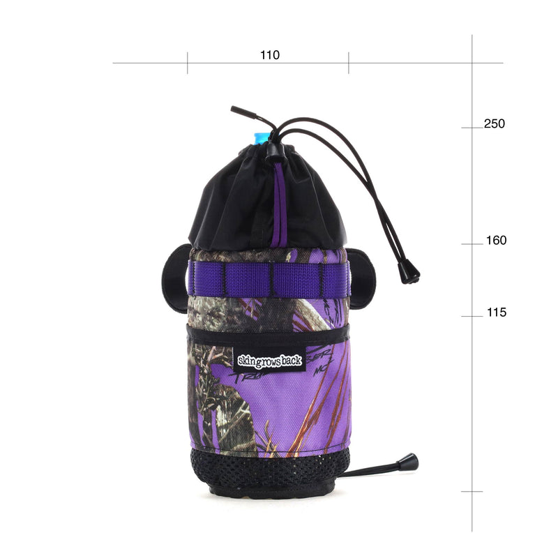 skingrowsback snack stack stem feed bag adventure gravel bike vampire purple camo