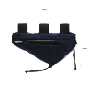 skingrowsback wedge frame bag cycling gravel bike navy dimensions