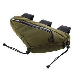 skingrowsback wedge frame bag cycling gravel bike olive