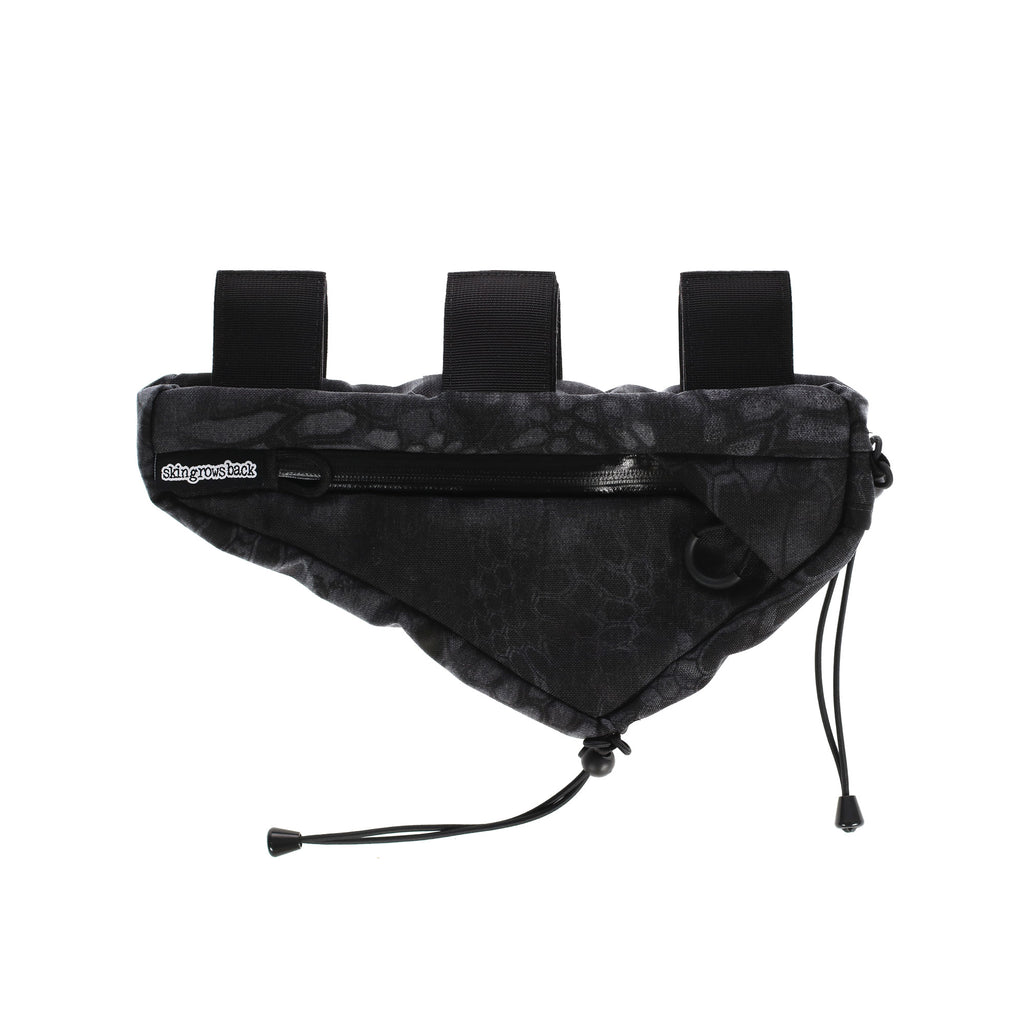 skingrowsback wedge frame bag cycling gravel bike typhon black camo