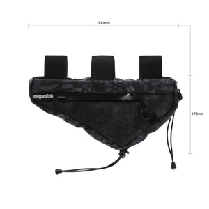 skingrowsback wedge frame bag cycling gravel bike typhon black camo dimensions