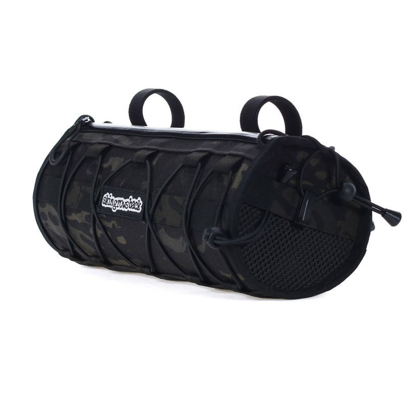 skingrowsback wide boy handlebar bag gravel bike multicam black