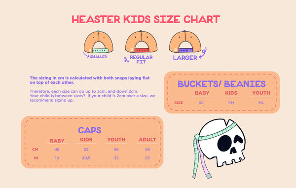 Headster Size Chart
