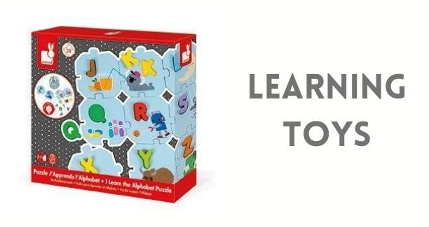 Shop our Learning and Activity Toy Collection. This collection includes Janod Puzzles and Magnet books, Scrunch buckets, Moluk Bilibos, Stroller toys, Activity gyms by Skip Hop & Folkmanis Hand Puppets.