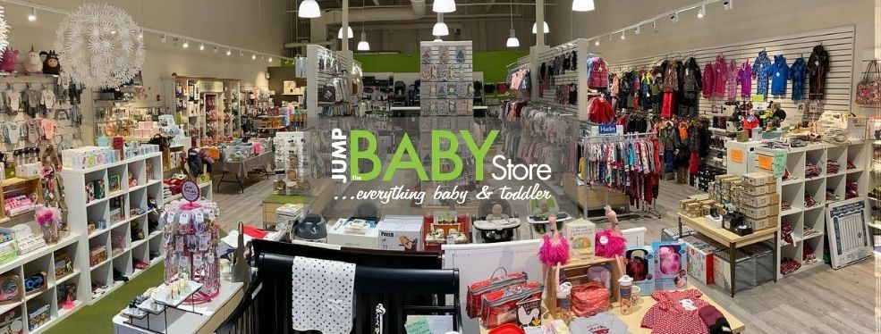 This is a pic of the inside of Jump! The BABY Store.  We are women led, local store located at 1338 Kingsway Sudbury Ontario. Come and visit us!