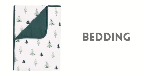 Find beautiful bedding & blankets in this Collection. Choose from Hush weighted blankets, Kyte 1.0 Tog & 2.5 Tog Baby, toddler & Adult Blanket. Lambs & Ivy, Pehr Quilts & Sheets, Loulou Lollipop Crib Sheets, Snuggle Me, Perlimpinpin and Baba Bean bedding.