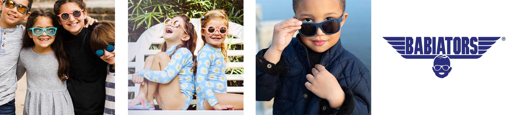 Babiators sunglass collection. Sturdy made for babies and kids.