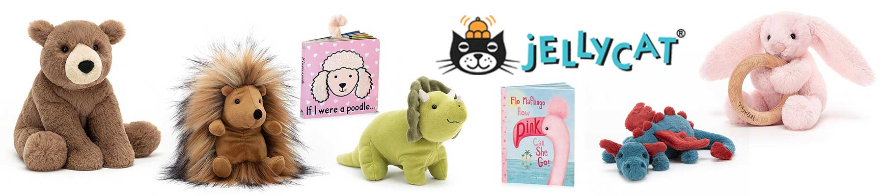Jellycat collection of stuffed animals. Our store is in Canada.
