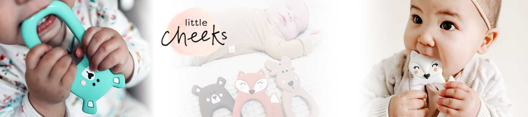 Little Cheeks, Grabbable Silicone Teethers