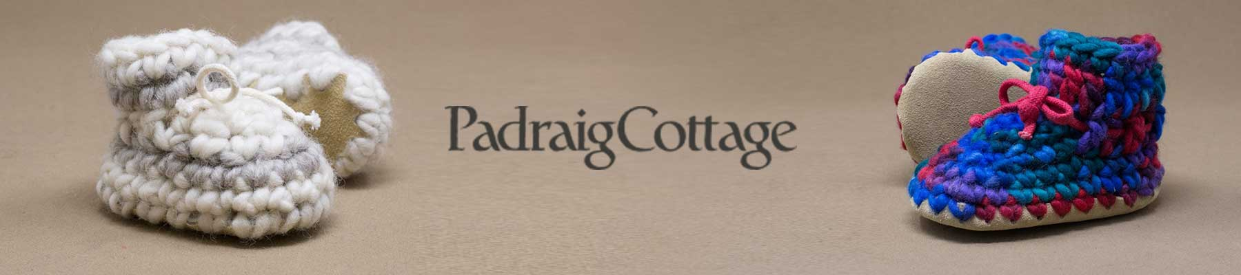 Padraig Cottage Newborn, Baby, Toddler, Kids and Adult Slippers
