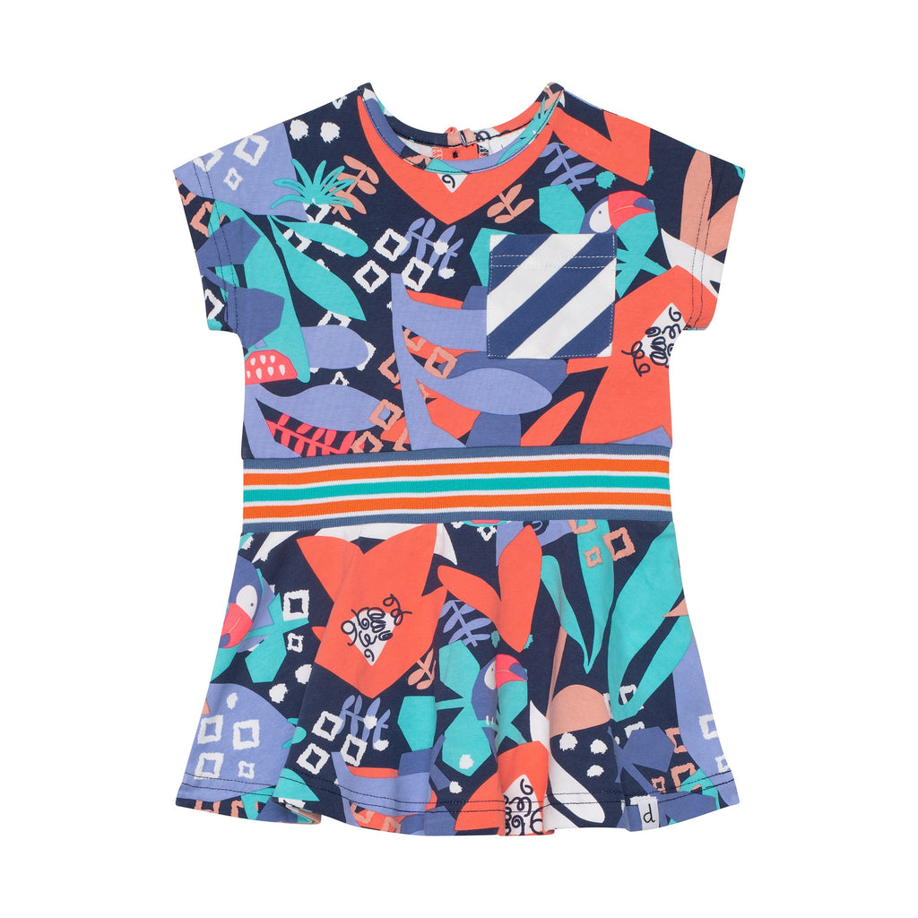 Deux Par Deux Toucan Dress with Pockets
