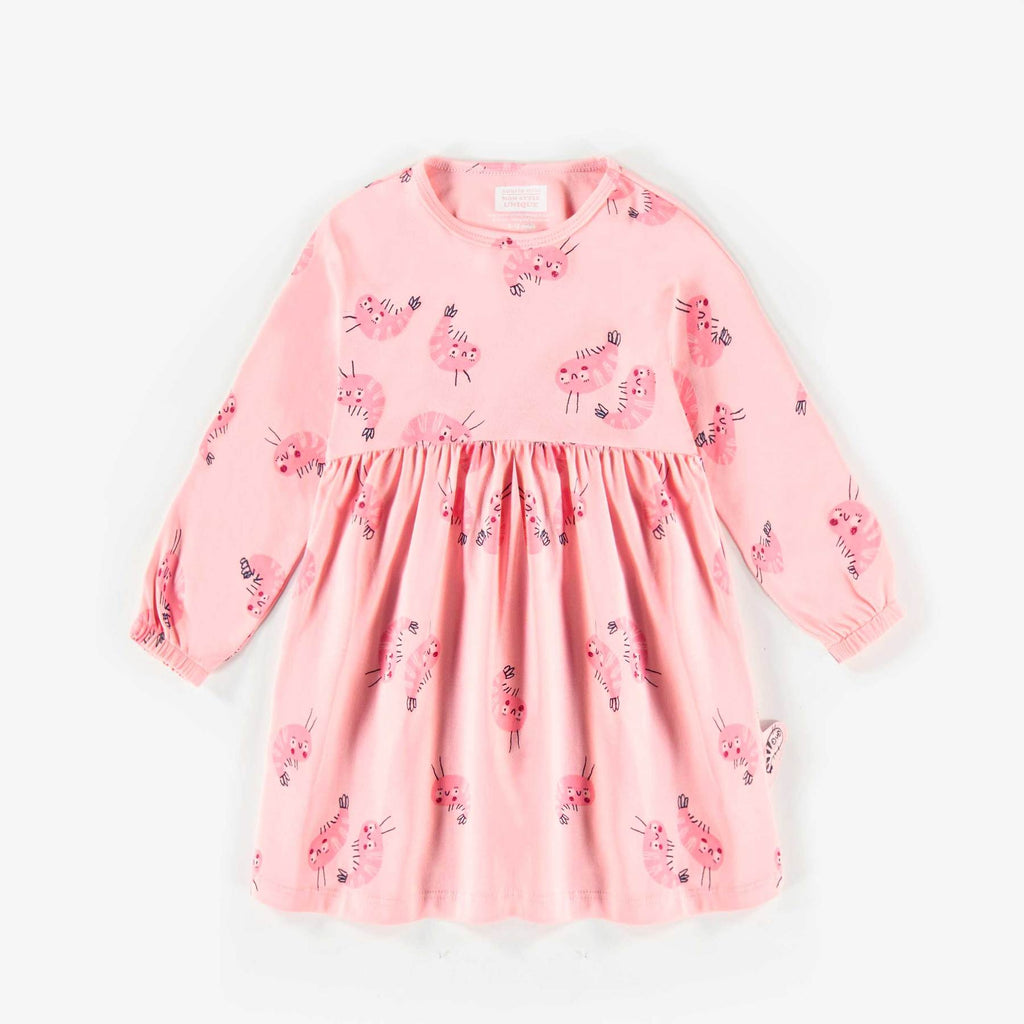 Souris Pink Patterned Dress
