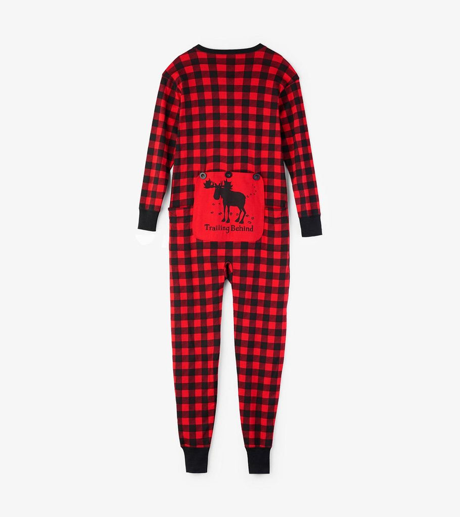 LITTLE BLUE HOUSE ADULT UNION SUIT BUFFALO PLAID