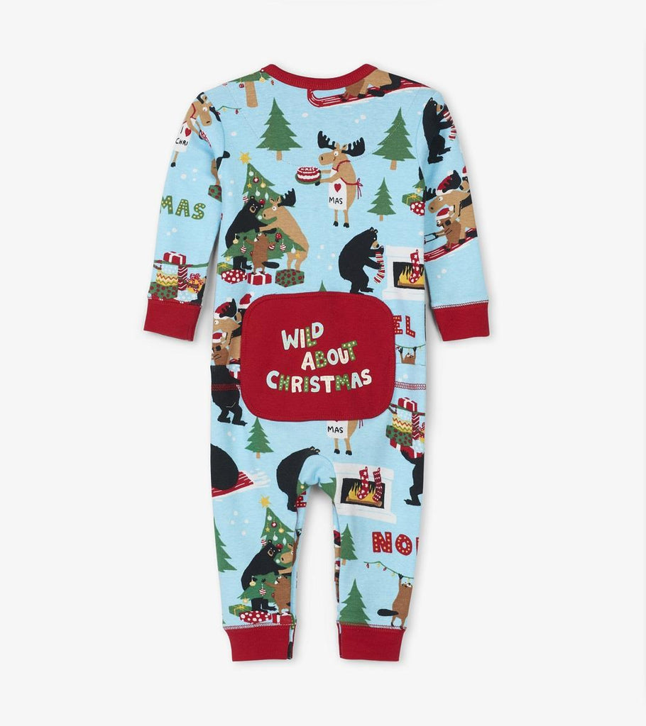 LBH BABY UNION SUIT - WILD ABOUT XMAS