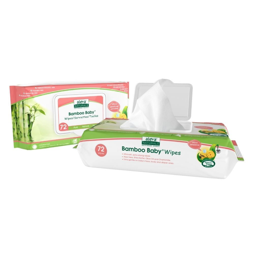 Aleva Bamboo Baby Sensitive Wipes