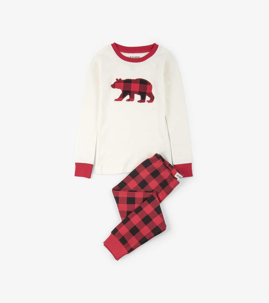 Lbh Pyjama Set Kids - Cream Buffalo Plaid