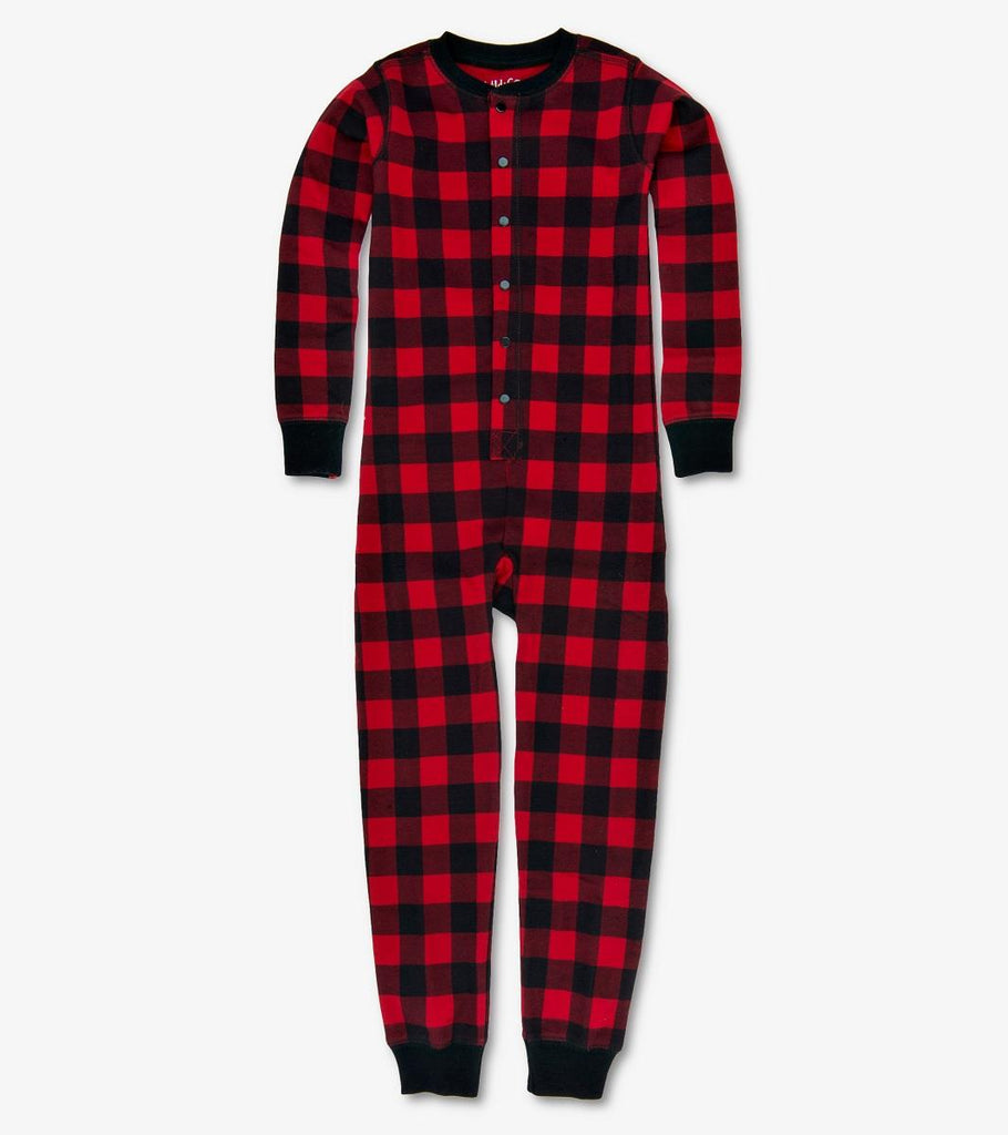 LITTLE BLUE HOUSE KIDS UNION SUIT BUFFALO PLAID