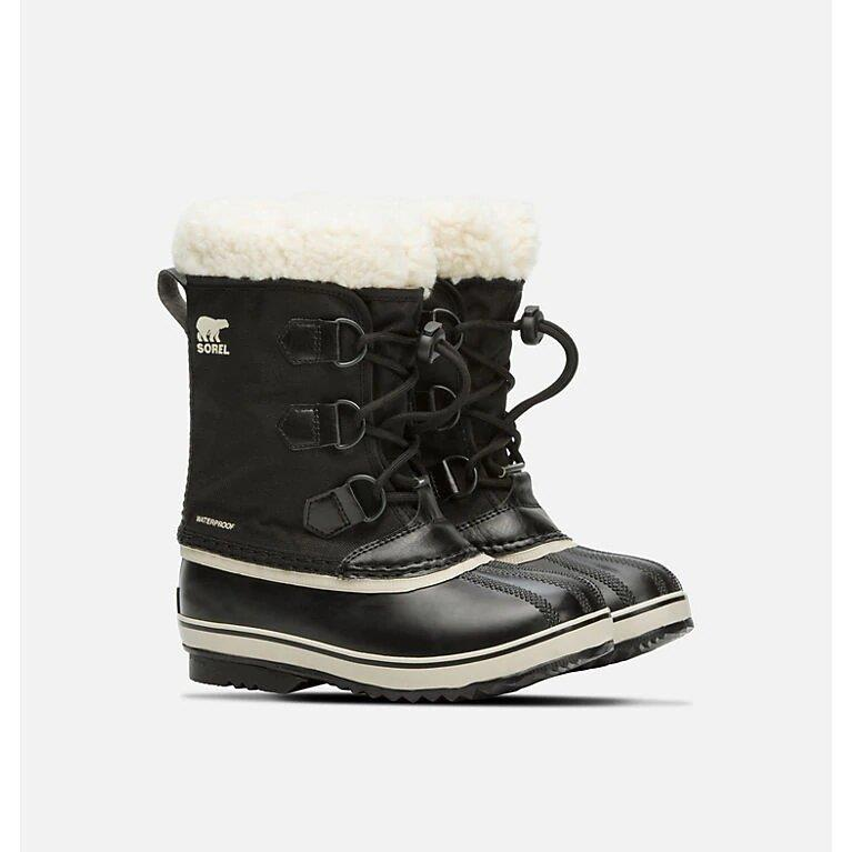 SOREL YOUTH PAC BOOTS - BLACK