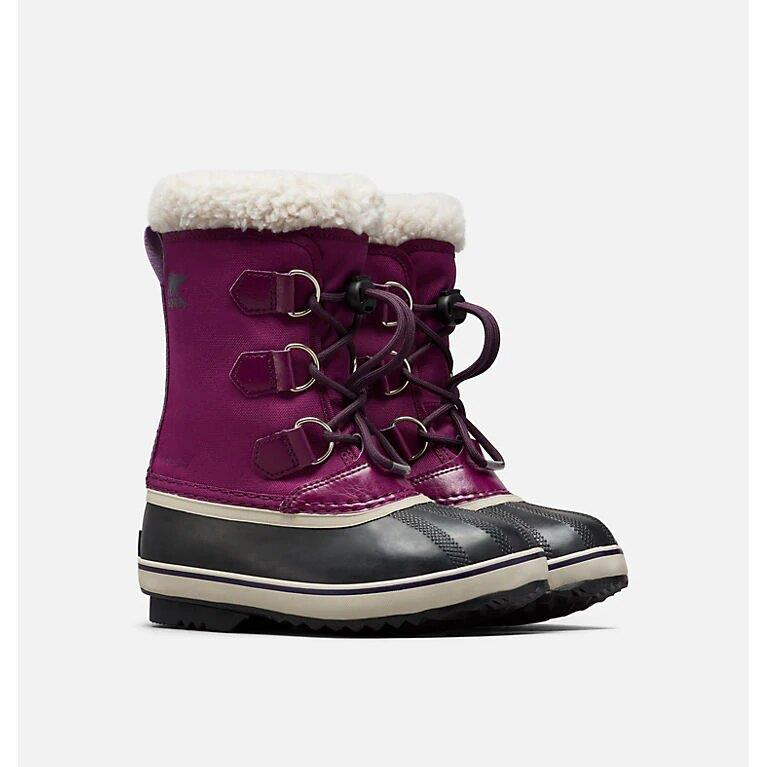 SOREL YOUTH PAC BOOTS - WILD IRIS/DARK PLUM