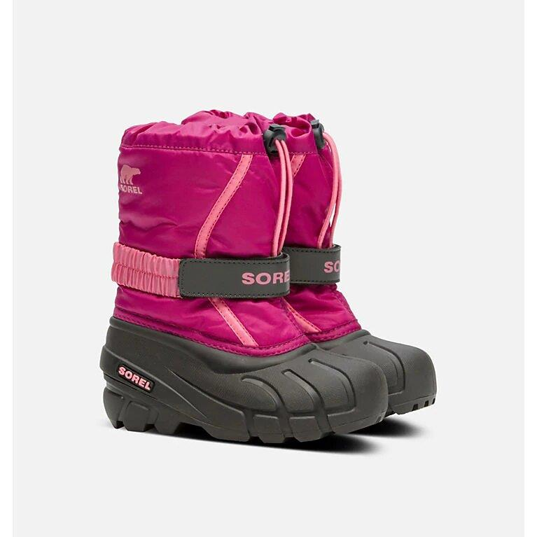 SOREL FLURRY BOOT - DEEP BLUSH/TROPIC PINK