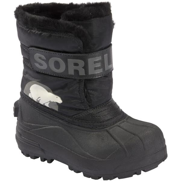 SOREL SNOW COMMANDER BOOTS - BLACK/CHARCOAL