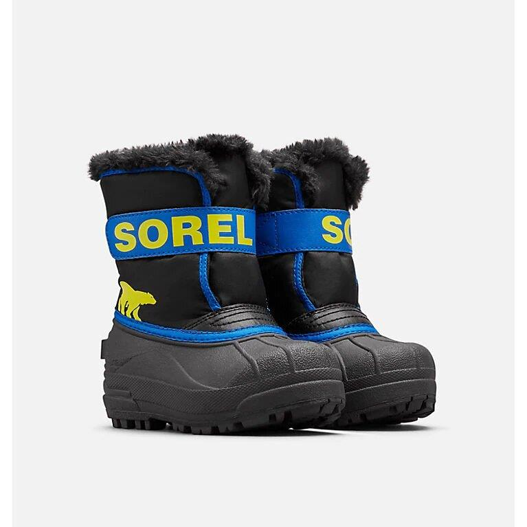 SOREL SNOW COMMANDER BOOTS - BLACK/SUPER BLUE