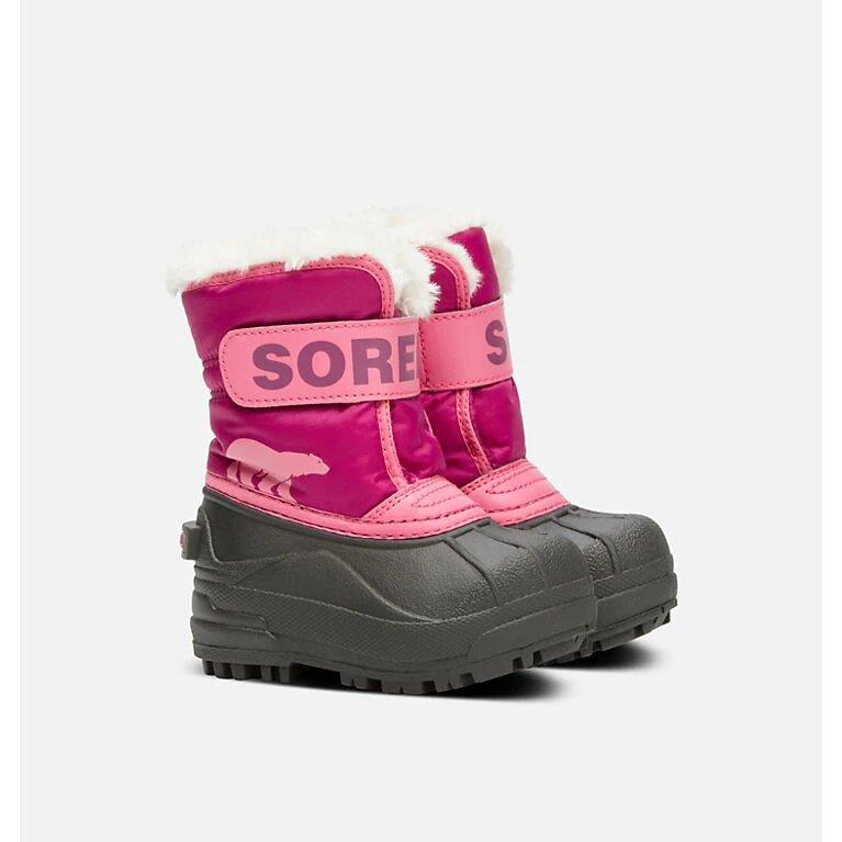 SOREL SNOW COMMANDER BOOTS - TROPIC PINK/DEEP BLUSH