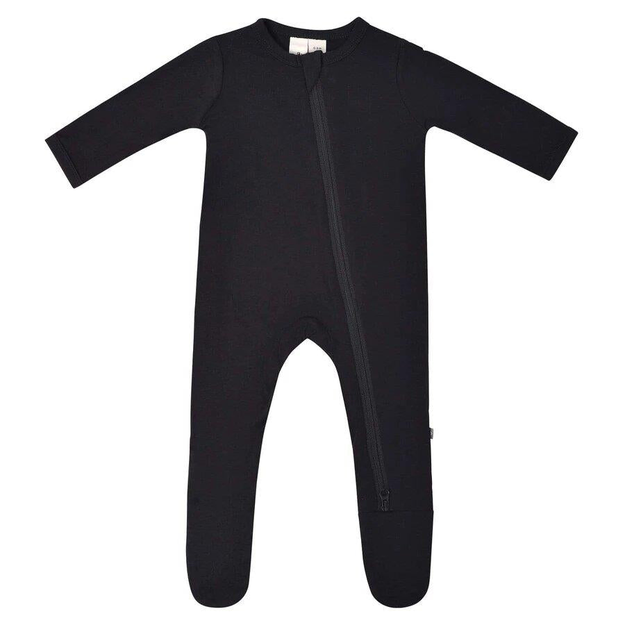 Kyte Solid Zip Footie - Midnight | Jump! The BABY Store