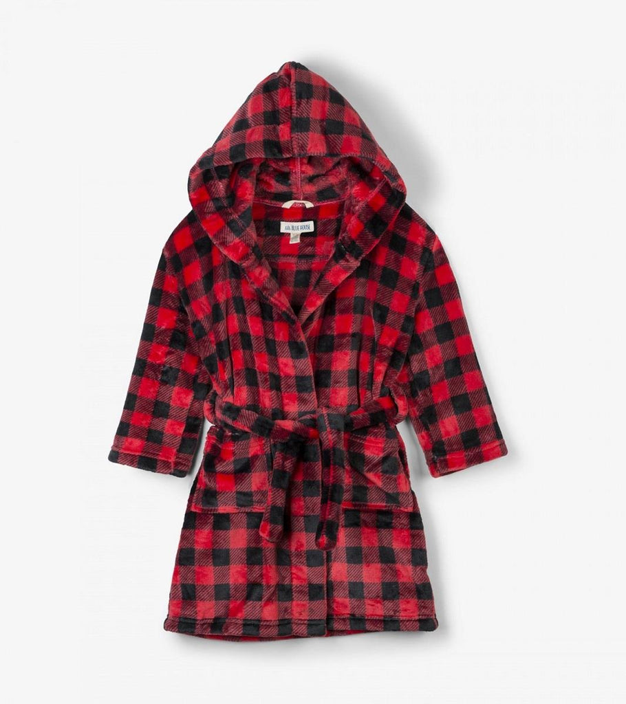 Lbh Fleece Robe - Buffalo Plaid