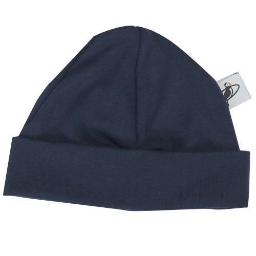 PUFFIN GEAR ORGANIC COTTON BEANIE - NAVY
