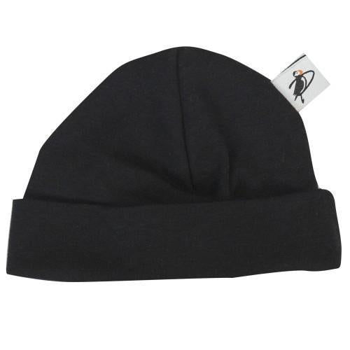 PUFFIN GEAR ORGANIC COTTON BEANIE - BLACK