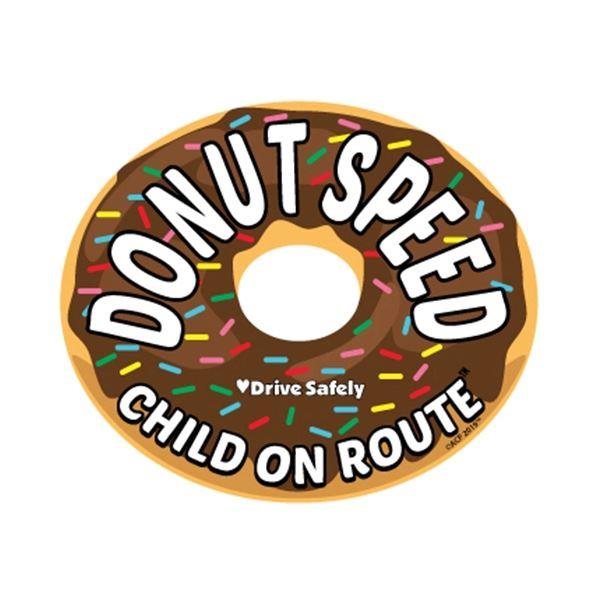 On Route Child Car Magnet - Donut Chocolate