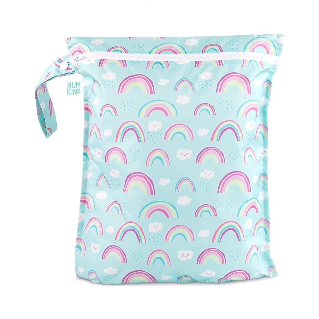 Bumkins Zipper Wet Bag Rainbows | Jump! The BABY Store