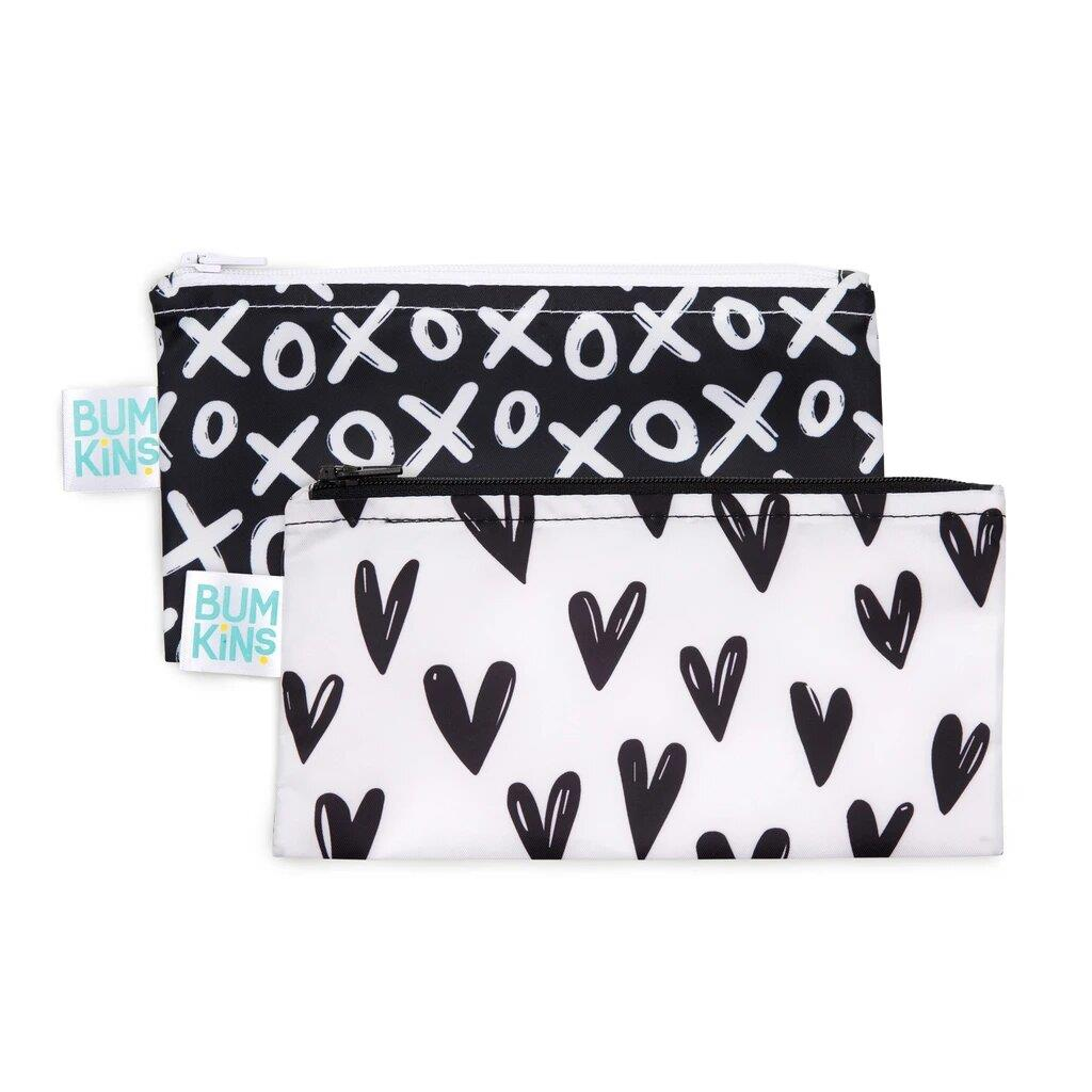 Bumkins 2PK Small Snack Bag - Hearts/Xoxo | Jump! The BABY Store