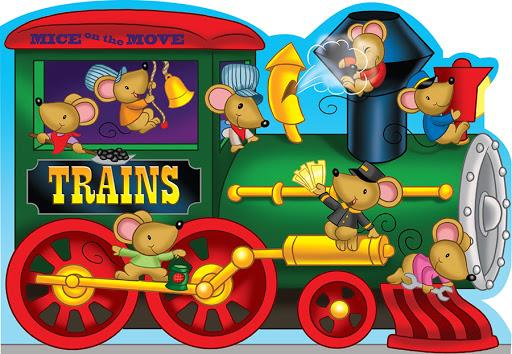 MICE ON THE MOVE BOARD BOOK - TRAINS