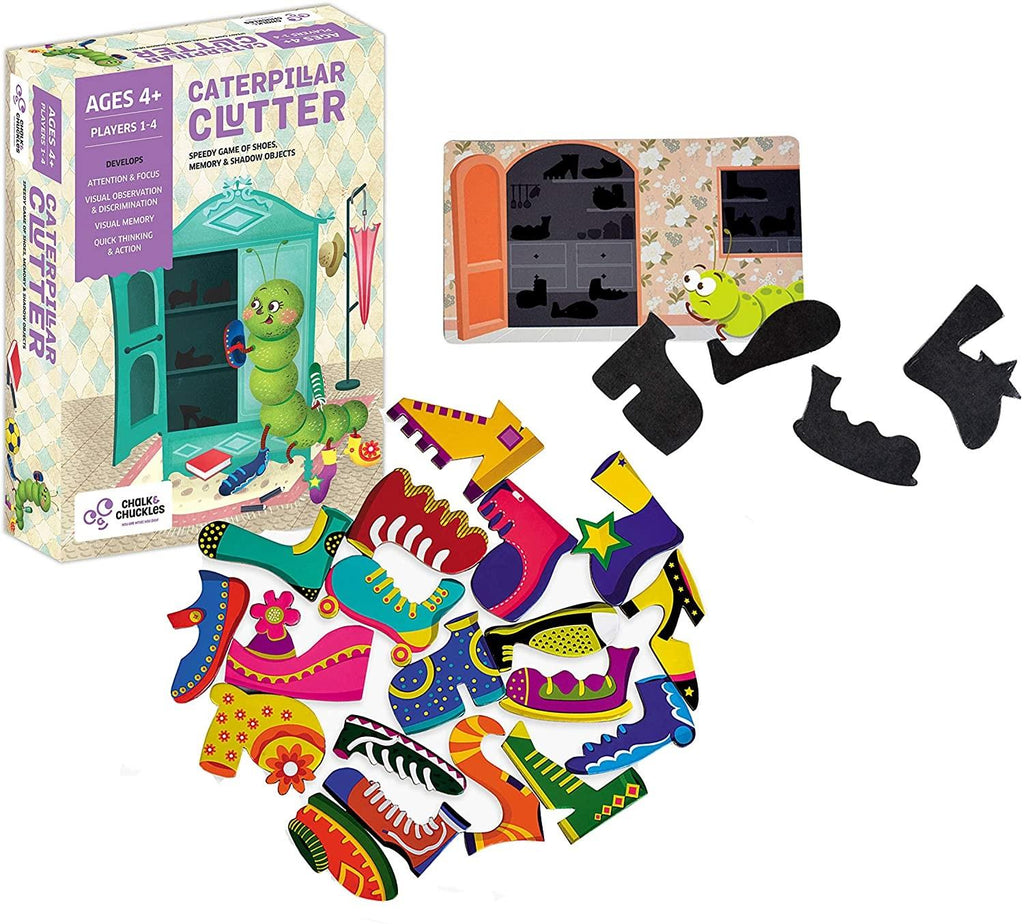 Chalck & Chuckles Caterpillar Clutter Memory Game