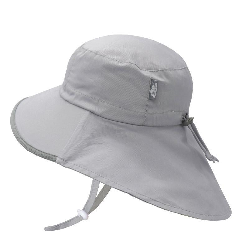 JAN & JUL Aqua Dry Adventure Kids Sun Hat | Grey