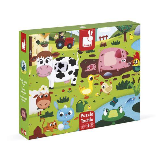 JANOD 20PC TACTILE PUZZLE - FARM ANIMALS