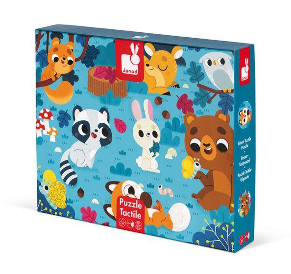 JANOD 20PC TACTILE PUZZLE - FOREST ANIMALS