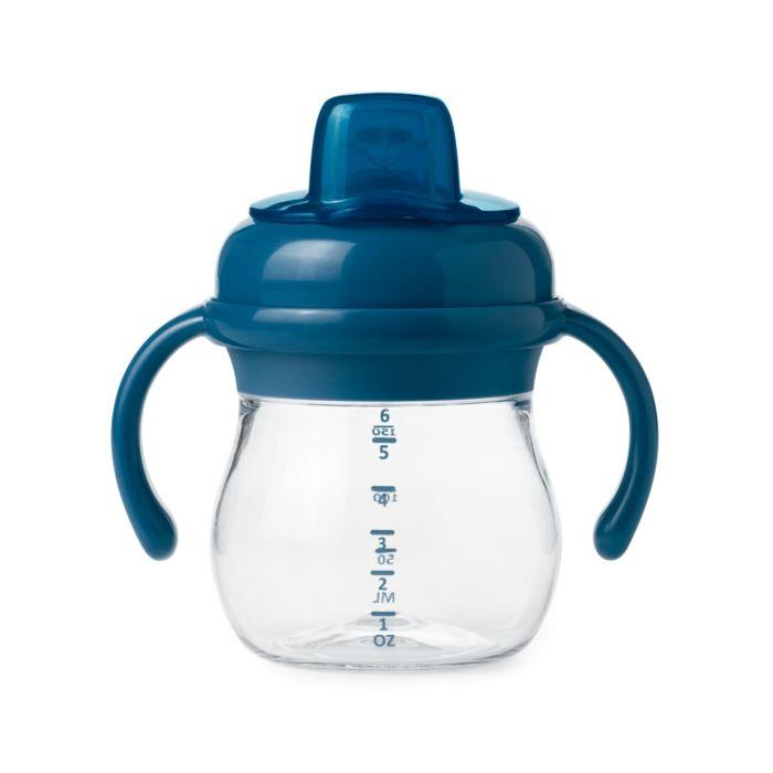 OXO TRANSITION SOFT SPOUT SIPPY W/ HANDLES - NAVY