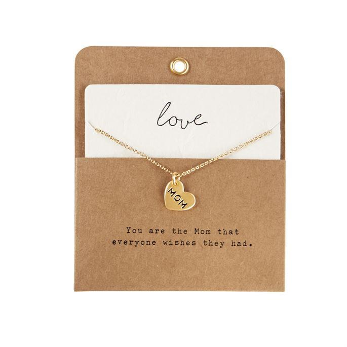 Mud Pie Heart Charm Necklace - Mom | Jump! The BABY Store