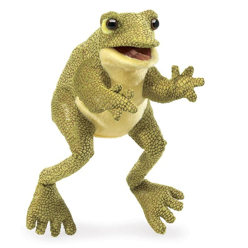 Folkmanis Funny Frog - Hand Puppet