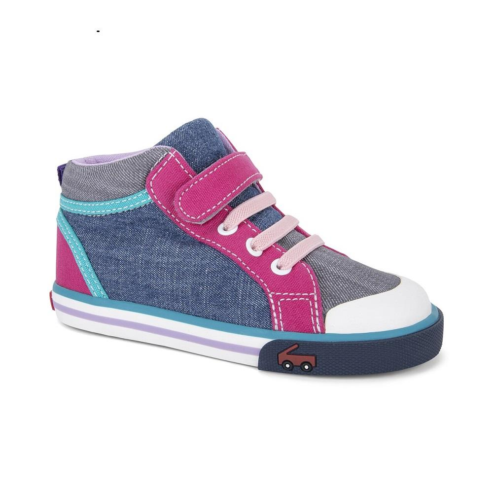 See Kai Run - Peyton (High Top) - Blue/Grey/Pink