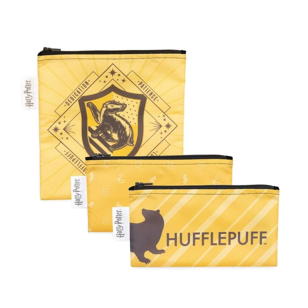 Bumkins 3 Pack Snack Bag - Hufflepuff
