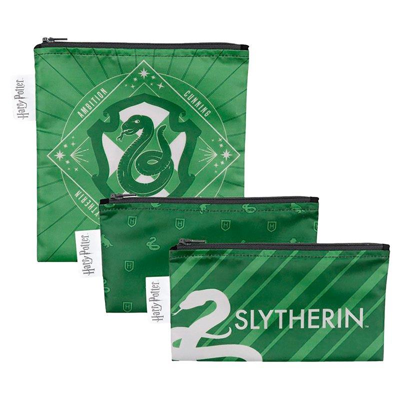 BUMKINS 3 PACK SNACK BAGS - SLYTHERIN