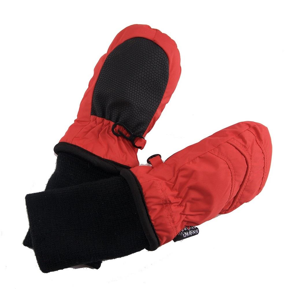 Snowstoppers Nylon Mittens - Fiery Red