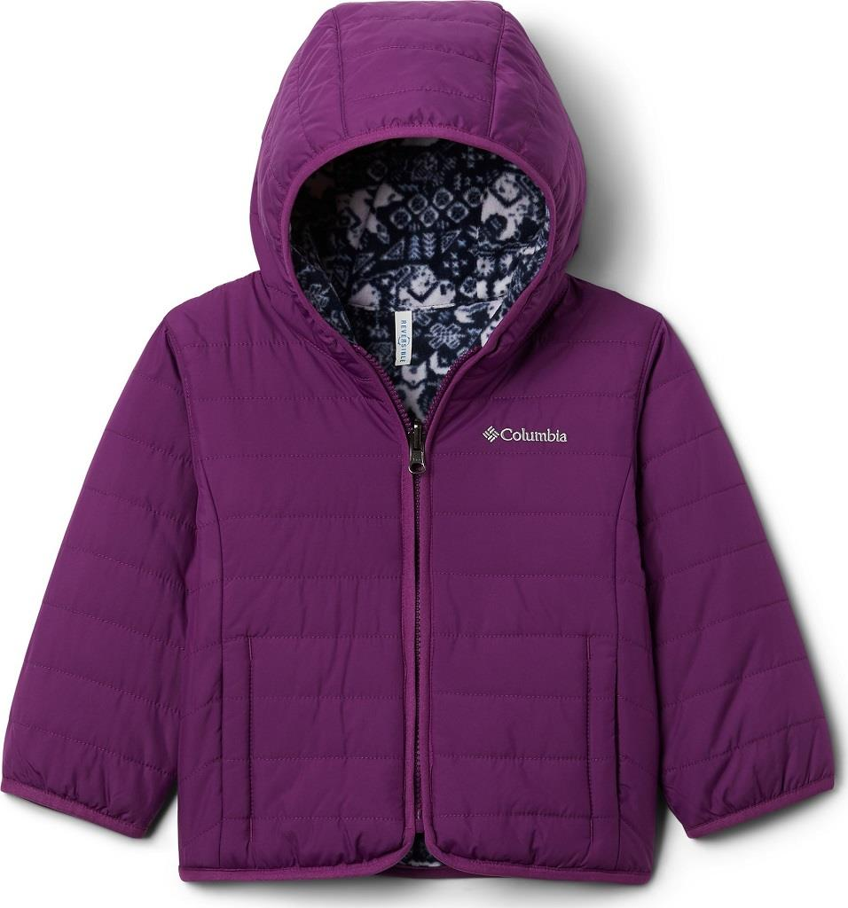 Columbia Toddler Double Trouble Jacket (Reversible)-Plum